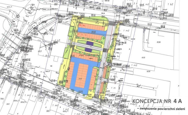 Koncepcja zagospodarowania terenu przed ratuszem w Mszczonowie